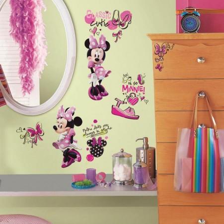 180bece0831 Παιδικά αυτοκόλλητα τοίχου με την Minnie Mouse.