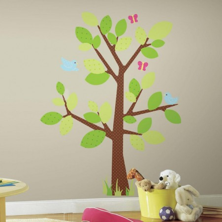 4ffab8dc661 Παιδικά αυτοκόλλητα τοίχου με δέντρο και πράσινα φύλλα από τη συλλογή  Roommates της εταιρείας York .