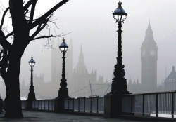 London in the fog. FT 0306
