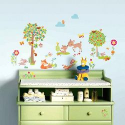 0061ea23441 Παιδικά αυτοκόλλητα με ζωάκια του δάσους από τη συλλογή Roommates της εταιρίας  York . Rmk 3209