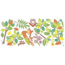2b24846e130 Παιδικά αυτοκόλλητα με ζωάκια του δάσους από τη συλλογή Roommates της εταιρίας  York . Rmk 3210