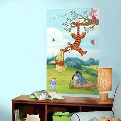Αυτοκόλλητο πάνελ Pooh and Friends Peel and Stick Wall Mural