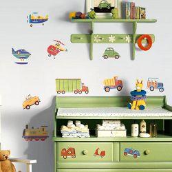 3bc7a04c5dd Παιδικά αυτοκόλλητα τοίχου με φορτηγά, φαγάνες και νταλίκες από τη συλλογή  Roommates της εταιρείας York