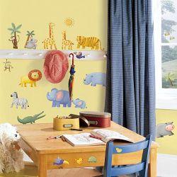 0966fd517d0 Παιδικά αυτοκόλλητα τοίχου με διάφορα χρωματιστά ζωάκια από την Άγρια Δύση  από τη συλλογή Roommates της