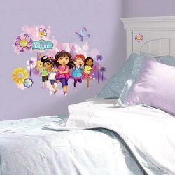 c1083e6e93b Παιδικά αυτοκόλλητα τοίχου με την Ντόρα και τους φίλους της 2655 gm