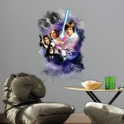 cb1fba5a0b4 Παιδικά αυτοκόλλητα με τους ήρωες από το Star Wars σε Mega διάσταση.